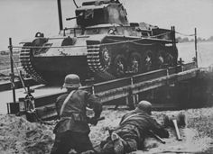 """Hungarian light """"Toldi I"""" tank crossing a bridge on the Eastern Front. Soviet Army, Defence Force, Axis Powers, Armored Vehicles, Military Vehicles, Techno, Wwii, Beast, World"""