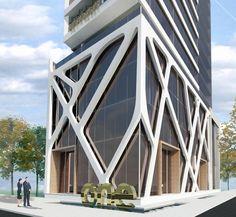 Modern Basement Idea is part of Facade architecture - Building Elevation, Building Exterior, Building Facade, Building Design, Building Skin, Facade Architecture, Contemporary Architecture, Landscape Architecture, Contemporary Building
