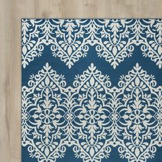 Found it at Wayfair - Pearl Blue/Ivory Indoor/Outdoor Area Rug