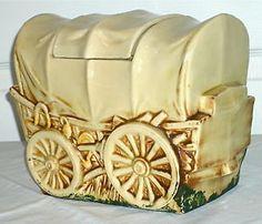 McCoy Cookie Jars Value | Vintage Covered Wagon McCoy Cookie Jar McCoy USA Art Pottery 1960 61 ...