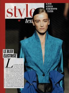 Damir Doma Women's Spring Summer 2013 silk jacket and ruffled skirt in today's issue of L'Express Styles (France).