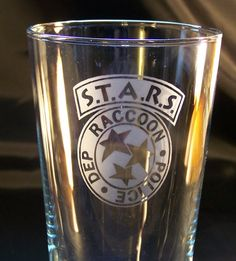 Resident Evil S.T.A.R.S Raccoon City etched pint glass