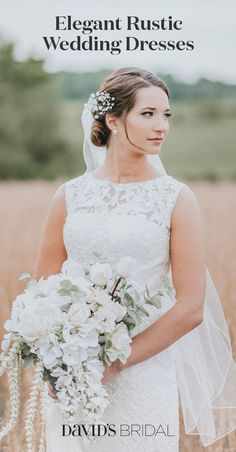 Your wedding dress can be a little bit vintage, a little bit country—and still head-to-toe elegant. Browse the whole collection at davidsbridal.com.
