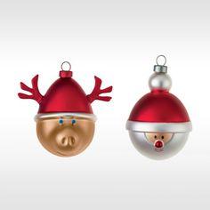 Alessi set van 2 kleine kerstballen