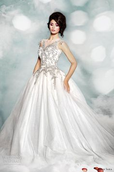 dar-sara-high-fashion-2014-wedding-dress-illusion-neckline-ball-gown
