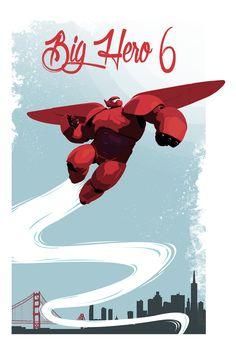 Big Hero 6 Poster - Julien Missaire