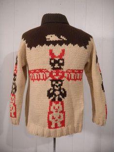Native American Symbols, Native American Women, Native American Indians, Native Indian, Vintage Coat, Vintage Sweaters, Rockabilly Fashion, Rockabilly Style, Cowichan Sweater