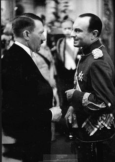 Hitler at the Berlin opera with Paul of Yugoslavia on June 3, 1939. This is one of the last times Hitler ever wore white tie and tails.
