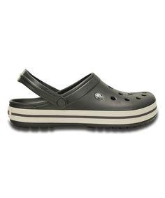 4bc104b479711 Crocs Graphite   White Crocband™ Clog - Unisex