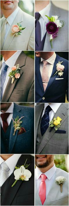 23 Wedding Boutonniere Ideas You Cannot Resist! is part of Boutonniere wedding Wedding boutonnieres are always overlooked when planning a wedding, but many people just forget how much personality th - Wedding Groom, Wedding Suits, Wedding Attire, Diy Wedding, Dream Wedding, Wedding Day, Wedding Bouquets, Wedding Flowers, Wedding Boutonniere