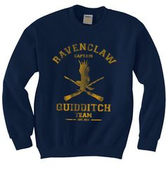 CAPTAIN Ravenclaw Quidditch team Unisex Sweatshirt by geekspride on Etsy https://www.etsy.com/listing/214951743/captain-ravenclaw-quidditch-team-unisex