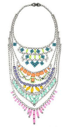 Fauve Swarovski crystal necklace, £1,540.00 by tom Binns from Net-a-Porter