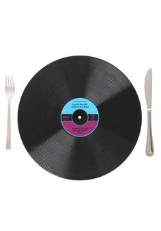 Idea. Don't spend 20 bucks, but instead go to a record store, get a bunch of 1 dollar scratched up vinyl, and use them as chargers under dinner plates. Goddamn, I'm clever.