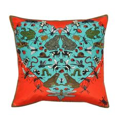 Discover the Silken Favours I Love The Beetles Cushion at Amara