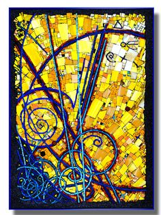 Abstract mosaics inspired by math and science by mosaic artist, Cynthia Fisher - BIGBANGMOSAICS