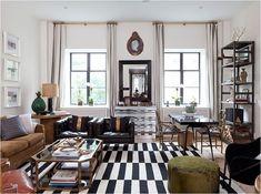 nate berkus black and white rug