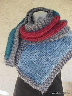 Ravelry: Love Wool Scarf pattern by Purls Of Wisdom PA Uses @KatiaYarns  Love Wool yarn