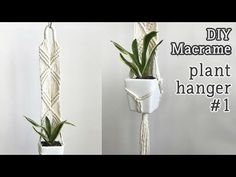 One of the easiest Macrame projects to get started with is a plant hanger. Decorate your house on a budget with 16 easy DIY Macrame plant hangers for beginners! Macrame Plant Hanger Patterns, Macrame Patterns, Macrame Art, Macrame Projects, Diy Wall Planter, Wall Plant Hanger, Youtuber, Micro Macramé, Macrame Tutorial