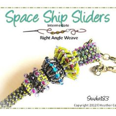 Beaded Slider Beads Beading Tutorial SPACE SHIPS | DreamWeaversStudio - Patterns on ArtFire