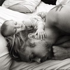 I got the sleeper hold on dad.. Wait, I'm going to go and nap with him.....