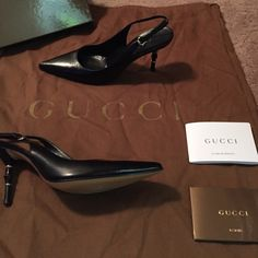 Gucci slingback pumps. Authentic Gucci bought at Saks Fifth Avenue. Worn once, excellent condition size 5.5. Gucci Shoes Heels