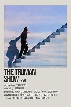 Peter Weir, The Truman Show, Laura Linney, Jim Carrey, Minimalist Poster, Movies Showing, Good Movies, Film, Movie Posters