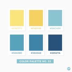 Color Palette No. 32 Color Palette No. Blue Colour Palette, Color Palate, Colour Schemes, Green Palette, Color Blue, Pantone Colour Palettes, Pantone Color, Bright Color Palettes, Beach Color Palettes
