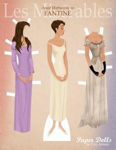 Fantine from Les Miz.  www.facebook.com/PaperDollsByCory