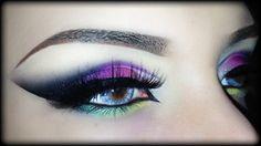 Sexy Arabic Purple Makeup Tutorial - المكياج العربي using Mulac Cosmetic. Arabic Makeup Tutorial, Eye Tutorial, Punk Makeup, Eye Makeup, Hair Makeup, Orange Makeup, Purple Makeup, Indian Bridal Makeup, Bridal Makeup Looks