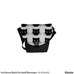 Cat Person Black Cat Small Messenger Bag. Regalos, Gifts. #bolso #bag #DiaDeLasMadres #MothersDay
