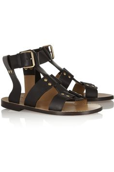 Chloé | Studded leather sandals | NET-A-PORTER.COM