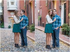 Sarah and Greg's Boston Engagment Session - Tricia McCormack Photography  City portrait-Engagement Photo-Engagement outfit ideas-Boston-Fall-Beacon Hill