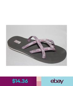 af75fc1cb Sandals Teva Olowahu Thong Sandals Mush Footbed Womens Model 6840 Nib  ebay   Fashion