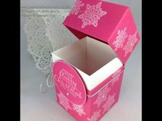 Papercraft With Crafty: Sturdy Hinged Box with Flush Fitting Lid