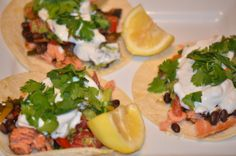 Fresh Salmon Tacos