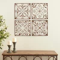 Set Of 4 Rustic 16 Inch Fleur De Lis Wall Decor By Studio 350 In