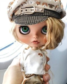 Items similar to Sold! Blythe doll custom blonde on Etsy Large Eyes, Big Eyes, Like A Cat, Free Graphics, Cute Anime Couples, Pretty Dolls, Custom Dolls, Hair Humor, Blythe Dolls