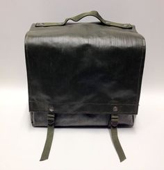 Czech Military Surplus Rubberized shoulder Bag Vintage Bicycle Pannier PAIR