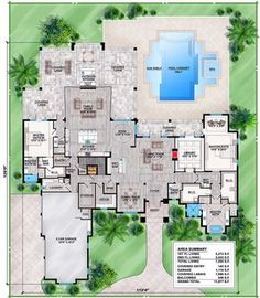 Spacious Contemporary Florida House Plan - 86025BW | 1st Floor Master Suite, Bonus Room, Butler Walk-in Pantry, CAD Available, Contemporary, Corner Lot, Den-Office-Library-Study, Elevator, Florida, In-Law Suite, Loft, Luxury, MBR Sitting Area, Media-Game-Home Theater, PDF, Southern, Split Bedrooms, Wrap Around Porch | Architectural Designs