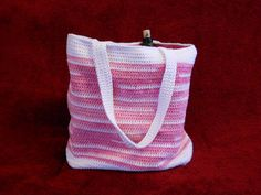 Crocheted Tote Bag  fully lined available in many colors by CustomBearHugs,  $55.00