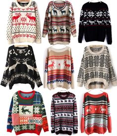 My favorite 'ugly' Christmas sweaters these are actually pretty cute!