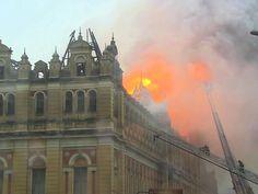 GNews - Incêndio no Museu da Língua Portuguesa em São Paulo (Foto: GloboNews)