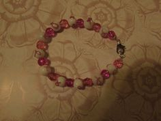 Pink Ribbon Breast Cancer Awareness Glass Beaded by Glitteredtoo.etsy.com
