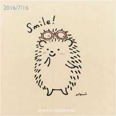 Adorable hedgehog illustration by Nami Nishikawa Hedgehog Art, Hedgehog Drawing, Cute Hedgehog, Hedgehog Illustration, Cute Illustration, Animal Drawings, Cute Drawings, Tier Doodles, Cute Creatures
