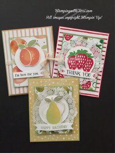 Stampin Up Catalog 2017, Fruit Stands, Hand Stamped Cards, Lemon Slice, Making Greeting Cards, Stenciling, Paper Pumpkin, Paper Cards, Stamping Up