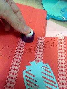 DIY Adventskalender aus buntem Papier, Washi Tape und Aufklebern – Anleitung17