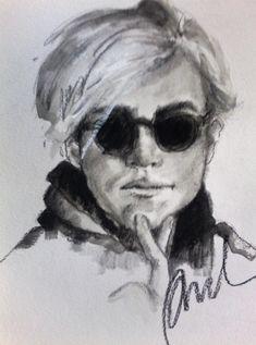 pamela -  wash and charcoal of Fabulous Warhol