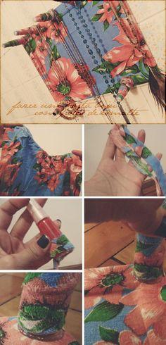 DIY porta colares e bijuteria usando tubos de esmaltes velhos / DIY necklace and jewelry hanger using old nailpolish bottles