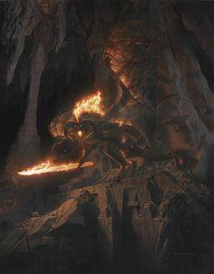Flame of Udun Tengwar 2R52 LOTR TCG MoM Mines of Moria The Balrog