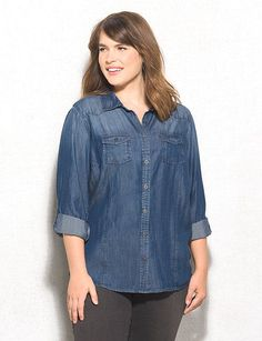 f0050106 128 Best PLUS SIZE DENIM SHIRTS images   Denim shirts, Blue jean ...